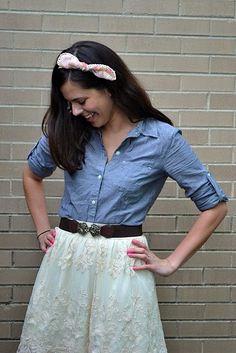 Shirt: Target, Skirt and Belt: F21.