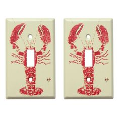 I pinned this Lobster Light Switch Plate - Set of 2 from the FishAye Trading Co. event at Joss & Main!
