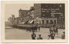 https://flic.kr/p/f4kiS1 | Washington Street, Lansing, Michigan -- parade for return of troops, May 13, 1919.