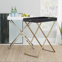 WEST ELM - Tall Butler Tray Stand in Antique Bronze $180AUD (sold out)