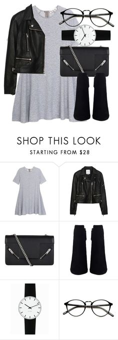 """""""Untitled #5319"""" by laurenmboot ❤ liked on Polyvore featuring Olive + Oak, Zara, Yves Saint Laurent and Rosendahl"""