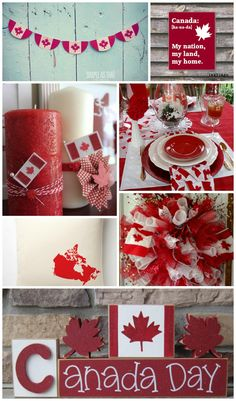 Jenn's Random Scraps: Get Your Canada Day On Canadian Party, Canada Day Crafts, Canada Day Party, All About Canada, Canada Holiday, Big Dot Of Happiness, Usa Tumblr, Food Themes, Food Ideas