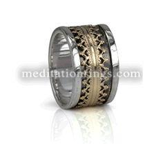 MeditationRings.com - MR572 (Gold