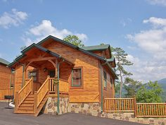 Pigeon Forge Cabin - Enchanted View - 2 Bedroom - Sleeps 8 - Swimming Pool Access