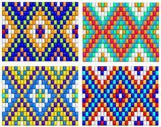 bead loom patterns, thread a bead loom, off loom bead patterns - Knitting and Crochet Beading Patterns Free, Seed Bead Patterns, Peyote Patterns, Weaving Patterns, Free Pattern, Native Beadwork, Native American Beadwork, Bead Loom Bracelets, Beaded Bracelet Patterns