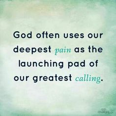 Nice reminder of God's sovereignty : ) pain for purpose #calling