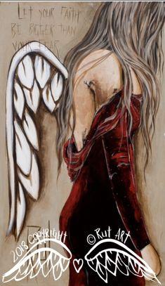 Angel Artwork, Eyes Artwork, Angel Paintings, Angel Images, Angel Pictures, Unicorns And Mermaids, Mural Art, Heart Art, Painting Techniques