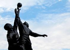 Twickenham Rugby Statue by Doug Wheller