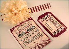 5 faire-parts ou invitations sur le thème de la fête foraine