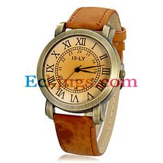 Women's vintage Dial PU Band Quartz Analog Wrist Watch (Assorted : Online Shopping for Watches, Toys & more