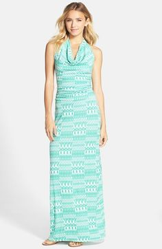 Fraiche by J Drape Neck Maxi Dress available at #Nordstrom