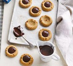 Easy chocolate & hazelnut buckwheat thumbprint cookies