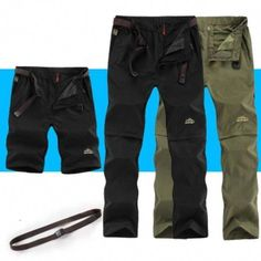2018 New Summer Outdoor Sports Quick Dry Pants Men Camping Fishing Hiking Pants Male Removable Thin Breathable Trouse Plus Size Review #hikingpants
