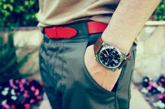 red belt & watch