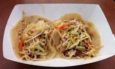 Japanese Chicken Tacos with Asian Slaw, Teriyaki Sauce and Pineapple from The Rolling Chef  at the  Saguaro Food Truck Roundup 7/20/2013 #Tucson #Arizona | photo by Kim M. Bayne for Street Food Files