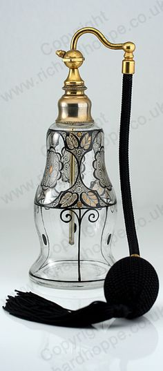 VINTAGE c.1920s BOHEMIAN CLEAR GLASS SCENT PERFUME SPRAY ATOMIZER, POSSIBLY FRIEDRICH PIETSCH. This item is sold, to visit my website to see what's in stock click here: http://www.richardhoppe.co.uk or for help or information email us here: info@richardhoppe.co.uk