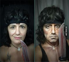 Rambo #cosplay #makeup [I didn't even realize this was makeup until i read the title]