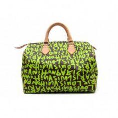 Louis Vuitton Speedy 30 monogram graffiti green | Bags :: Luxury Toys