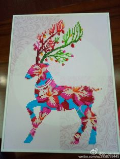 beautiful reindeer! The 3D crystal diamond painting was finished by me using 3 hours.