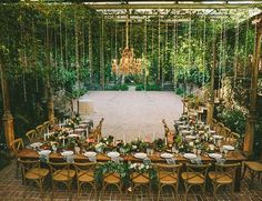 Long Family Style Destination Wedding Reception with bistro chairs - Enchanted Maui Wedding at Haiku Mill - Inspired by This