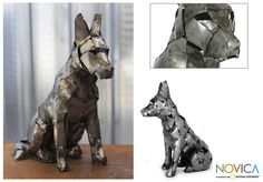 nice dog sculpture. would look good in a library next to a comfy chair.