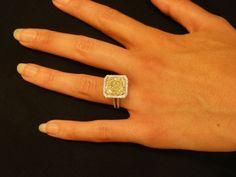 The Forum Engagement Ring Folder/Eye Candy : Show Me the Bling! Canary Diamond, Yellow Diamond Rings, Diamond Girl, Yellow Diamonds, Pink Sapphire, Aztec Jewelry, Garnet Jewelry, Diamond Jewelry, Unusual Rings