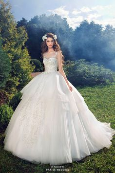 Milva introduces this romantic ball gown that demonstrates a whimsical spirit while maintaining modernity! » Praise Wedding Community