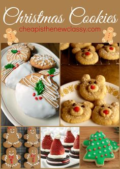 Get ready for a tasty holiday season.  Try one of these 10 Christmas Cookies Recipes to get you in the holiday spirit today. And don't forget to leave some for Santa.  http://cheapisthenewclassy.com/2014/11/christmas-cookies-recipes.html #cookies #food