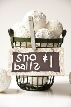 Fake snowballs! Perfect for the coast girl that misses the snow of Eastern Oregon.