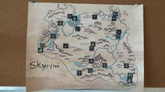 A map of Skyrim a kid in my school made - http://ift.tt/1TXeZ9A