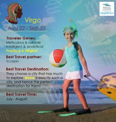 #Zodiac #Virgo is #Smart & ever #Inquisitive #love to #explore! The #Travel #Personality of #Virgo is as such: