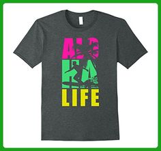 Mens Aloha Life Hawaii Surfing Beach Party T-Shirt 2XL Dark Heather - Sports shirts (*Amazon Partner-Link)