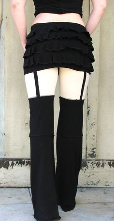 Faux Garter Devi Pants in Nude Illusion. $78.00, via Etsy.