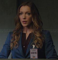Laurel's blue blazer on Arrow.  Outfit Details: http://wornontv.net/21778/ #Arrow