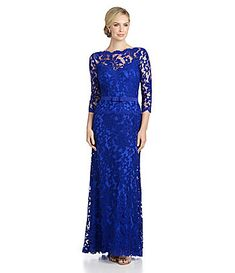 Tadashi Shoji Lace Illusion Gown, Mother of the Bride Dress #Dillards