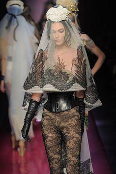Jean Paul Gaultier summer 2012:tattoo veil