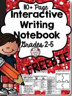 Interactive Writer's Notebook {FREEBIES for Grades 2-5}This is a FREEBIE of some of the items that are included in my Complete 100+ Page Interactive Notebook! If you like what you see, download the interactive notebook before the price increase! It will remain low for first few weeks!!!!