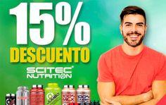 Descuento del 15% en SCITEC NUTRITION + 15% de REEMBOLSO