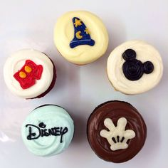 Disney cupcakes from Sibby's Cupcakery, San Mateo, CA