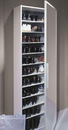 Schuhschrank Aus Weinkisten Shoe Storage, Wall Mirrors With Storage, Hallway Storage, Diy Furniture, Wardrobe Solutions, Haul, Shoe Cabinet, Diy Home Decor, Hallway Decorating