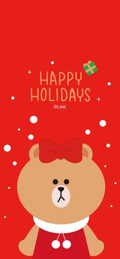Cony Brown, Lines Wallpaper, Brown Line, Line Friends, Christmas Illustration, Christmas Wallpaper, Sanrio, Happy Holidays, Kawaii