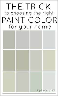 The trick to choosing the right paint color for your home.