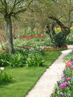 one of many paths through the gardens