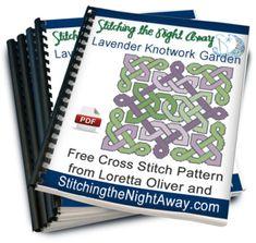 Lavender Knotwork Garden free cross stitch chart