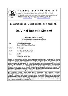 my first seminar about Da Vinci Robotic Surgery System