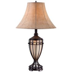 Cardiff Iron Night Light Urn Table Lamp - Style # T7663