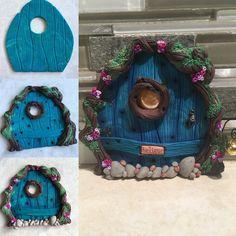 Polymer Clay Fairy, Polymer Clay Creations, Polymer Clay Crafts, Clay Activity, Elf Door, Diy And Crafts, Arts And Crafts, Acorn Crafts, Fairy Homes