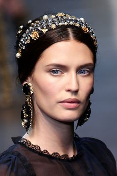 Bianca Balti walks the runway at the Dolce & Gabbana Autumn/Winter 2012/2013 fashion show as part of Milan Womenswear Fashion Week on February 26, 2012 in Milan, Italy.