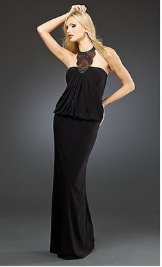 Mignon Dress VM-687 MI-VM-687  www.dresseswd.com   Style: MI-VM-687  Name: Mignon Dress VM-687  Details: Sequin Detail  Length: Long  Neckline: Halter  Waistline: Cinched