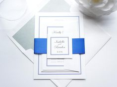 Shown in Royal Blue & Black ink. Ribbon and ink colors can be customized to any of the colors on our color chart! View Color Chart! Purchase this listing and receive a sample set! We recommend purchas